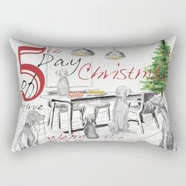 FIFTH DAY OF CHRISTMAS WEIMS Rectangular Pillow