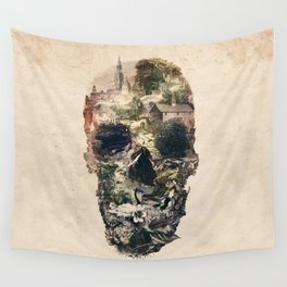 Skull Town Wall Tapestry