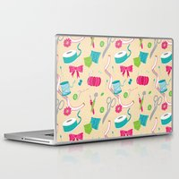 sewing Laptop & iPad Skins featuring Sewing Session by Valentina Cariel