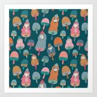 Pattern Project #49 / Mushroom Girls Art Print