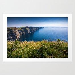 Sunny Cliffs of Moher, Ireland Art Print