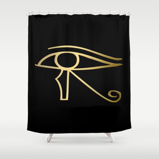 Eye Of Horus Egyptian Symbol Shower Curtain By