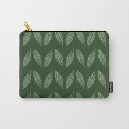 Tropical foliage emerald #tropical #leaves #homedecor Carry-All Pouch