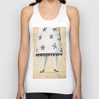 lady Tank Tops featuring Lady by Zuriñe Aguirre Illustration