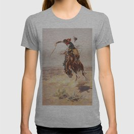 A Bad Hoss by Charles Marion Russell (c 1904) T-shirt