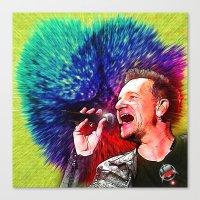 u2 Canvas Prints featuring U2 / Bono 3 by JR van Kampen