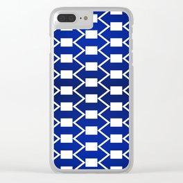 Gradient Blue Arrows Clear iPhone Case