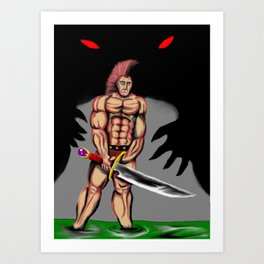 watch out warrior Art Print