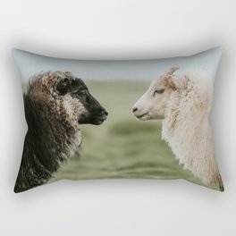 Sheeply in Love - Animal Photography from Iceland Rectangular Pillow