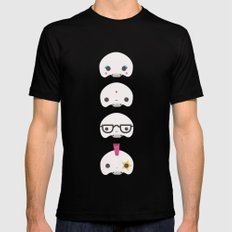 Cute skulls Black Mens Fitted Tee MEDIUM