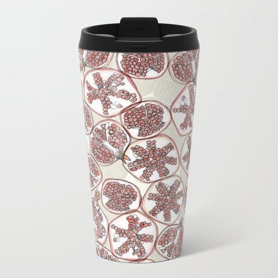 watercolor pomegranates Metal Travel Mug