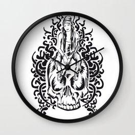ONE INK SKULL Wall Clock