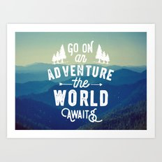 Adventure Quote Art Print