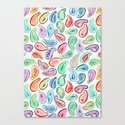 Simple Hand Painted Watercolor Paisley Pattern by micklyn