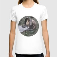 otter T-shirts featuring Otter by RMK Photography