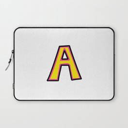 Uppercase Letter A Doodle Laptop Sleeve