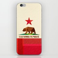 logo iPhone & iPod Skins featuring California by Fimbis