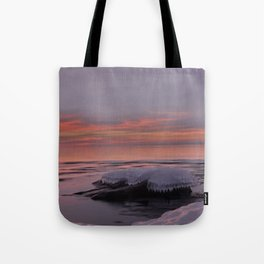 Icy Watercolor Sunrise Tote Bag