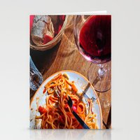 pasta Stationery Cards featuring Pasta & Magic by C.Santangelo