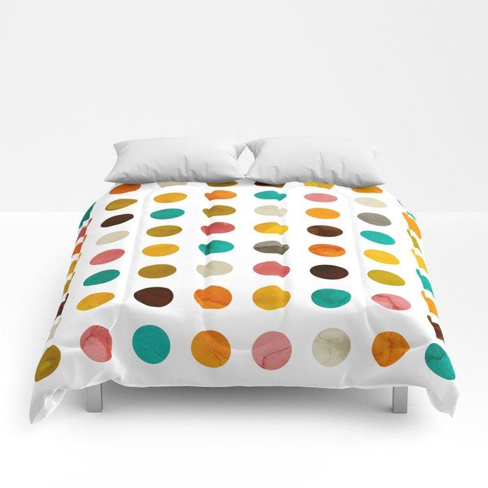 Autumnal polka dot Comforters