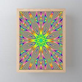 Psychedelic Rainbow Kaleidoscope Framed Mini Art Print