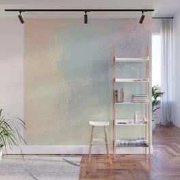 Iridescent Pastels - Innocent Soft Abstract Painting Wall Mural