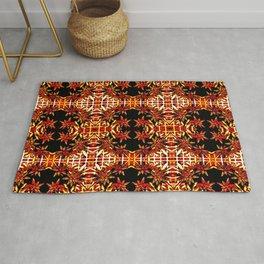 Traditional Christmas Star Pattern Rug