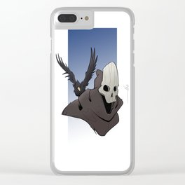 The Skull and the Raven Clear iPhone Case