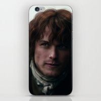 outlander iPhone & iPod Skins featuring Jamie Fraser by LindaMarieAnson