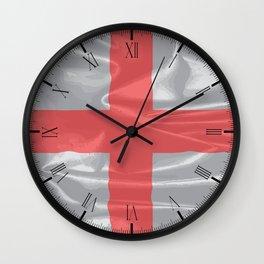 Silk Flag of England and Saint George Wall Clock