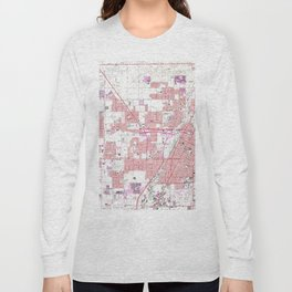 Vintage Map of Las Vegas Nevada (1967) 3 Long Sleeve T-shirt