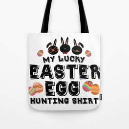 My Lucky Easter Egg Hunting Bunny Cute Tote Bag