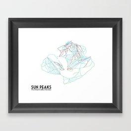 Sun Peaks, BC, Canada - Minimalist Trail Art Framed Art Print