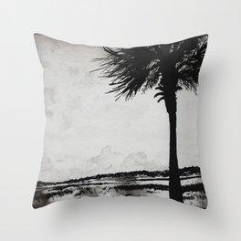 Palm Tree on the Marsh Throw Pillow