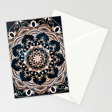 Glowing Spirit Mandala Blue White Stationery Cards