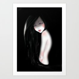 The dark night Art Print
