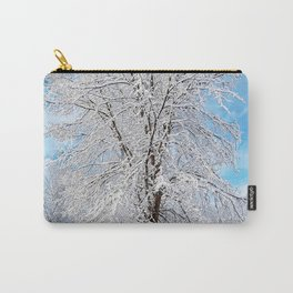 Snow Covered Tree Carry-All Pouch