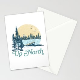 Vintage Up North Lake Stationery Cards