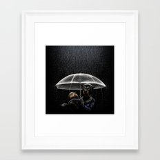 Cat & Dog Framed Art Print