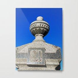 Statue Blue Metal Print