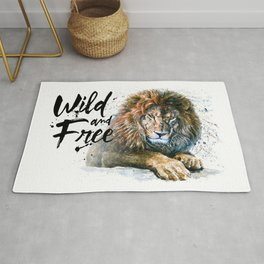 Lion Wild and Free Rug