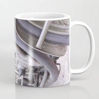 motorbike Mugs featuring Old motorbike by Carlo Toffolo