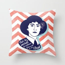 We're All A Little Mad - Agatha Christie Throw Pillow