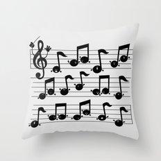 Notes Throw Pillow