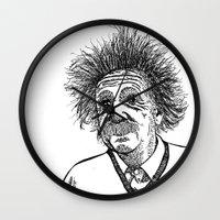 einstein Wall Clocks featuring Einstein by AlphaVariable