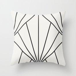 Diamond Series Sun Burst Charcoal on White Throw Pillow
