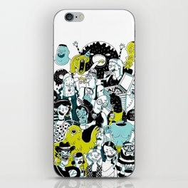 CROWD OF DUDES iPhone Skin