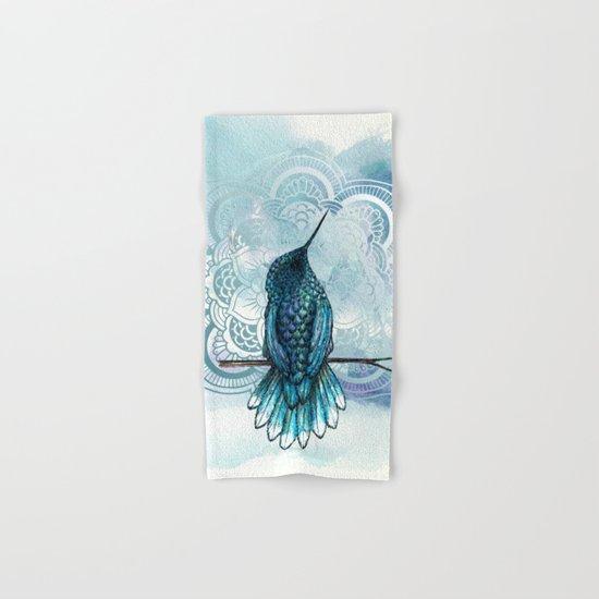 Aquarela hummingbird Hand & Bath Towel