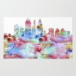 Cincinnati City Skyline Ohio Rug
