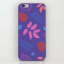 Leaves and Pineapple pattern iPhone Skin